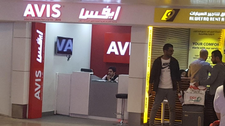 Avis Car Rental Services In Al Garhoud Dubai